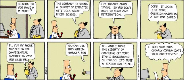 dilbert surveys comic strip