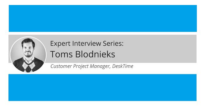 expert interview toms blodnieks