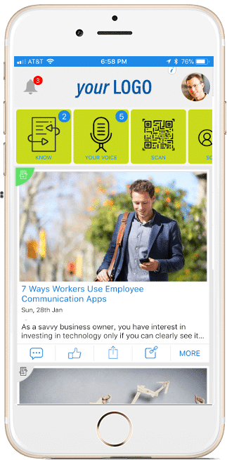 hubEngage features to engage employees